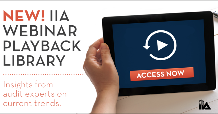 New! IIA Webinar playback