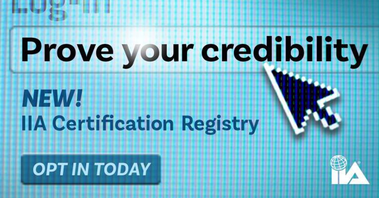 IIA Certification Registry