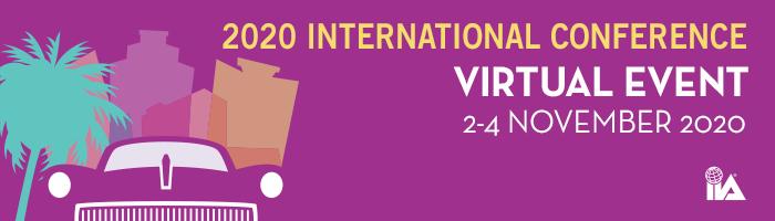 La conférence internationale 2020 est désormais un événement entièrement virtuel : Du 02 au 04 novembre 2020