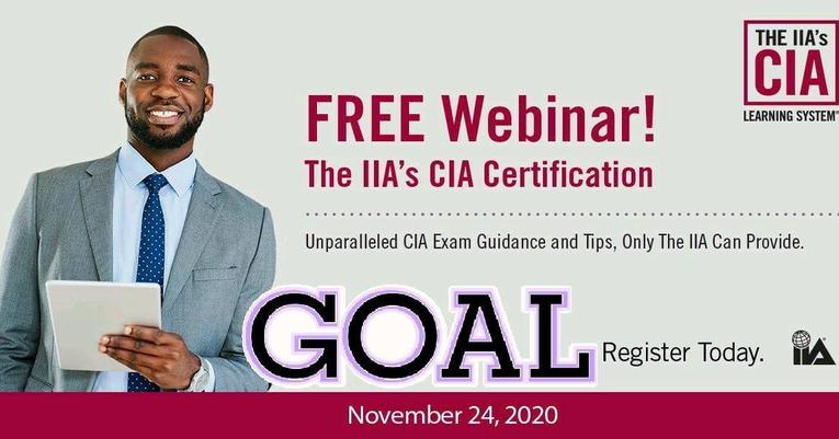 24 novembre 2020: Webinaire CIA de l'IIA